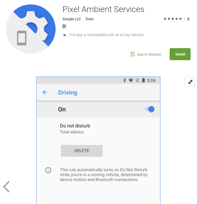 Pixel-ambient-services-DND-driving